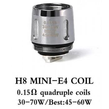Résistances H8 Mini-E4 (0.15 ohms) - Teslacigs
