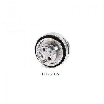 Résistances H8-E8 (0.15 ohms) pour H8 tank - Teslacigs