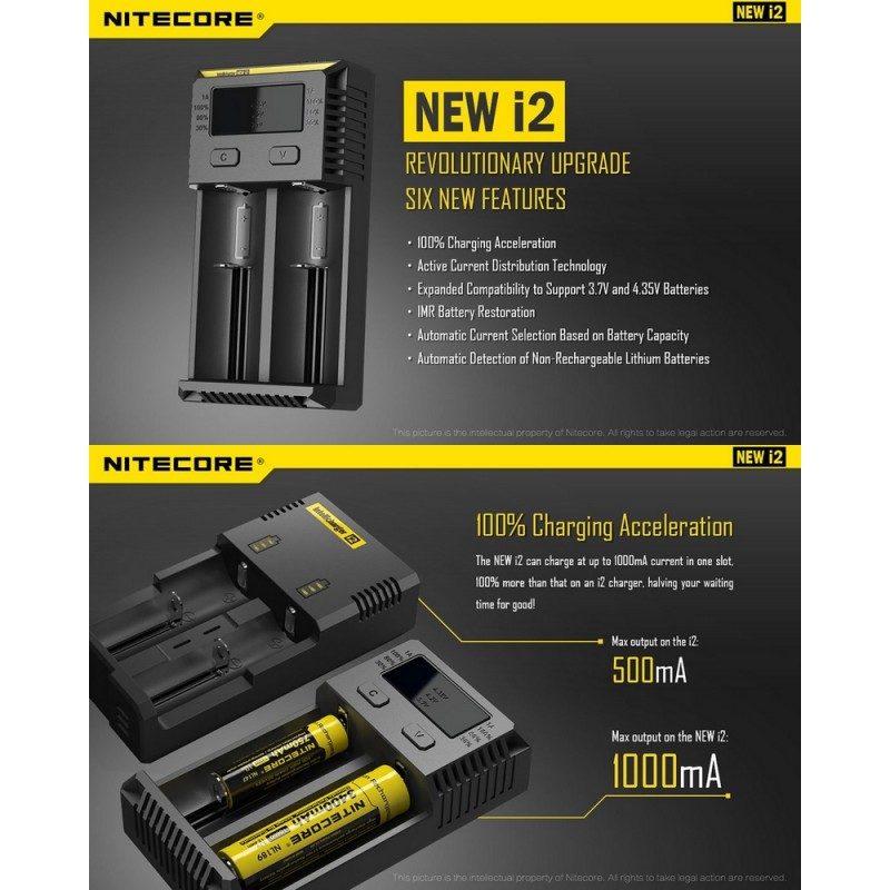 nitecore charger i2 how to use