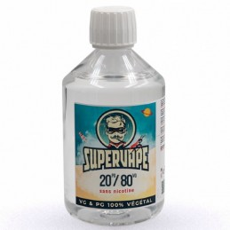 Base 20PG / 80VG sans nicotine 500ml - SuperVape