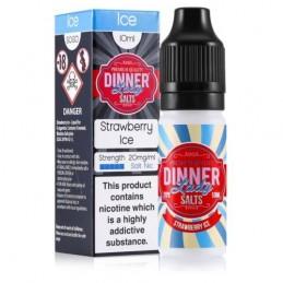 Dinner Lady - Sel de Nicotine - Strawberry Ice 10ml
